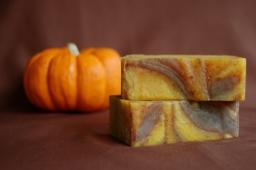 Gaia pumpkin spice soap