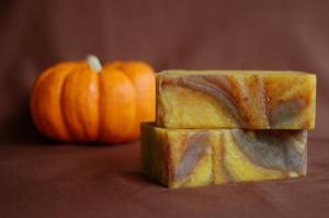 Gaia pumpkin spice soap by Andrea Badgley