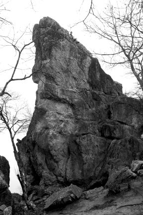 Husband atop Dragon's Tooth Blacksburg VA by Andrea Badgley on Butterfly Mind