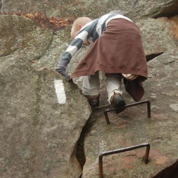 Ladder Rungs on Dragon's Tooth trail by Andrea Badgley on Butterfly Mind