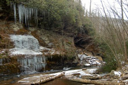 Icicles at the Cascades waterfall by Andrea Badgley at Butterfly Mind