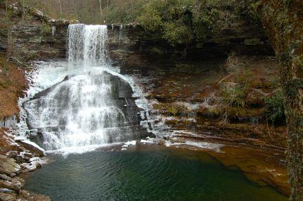 Cascades waterfall near Blacksburg, VA, January 2013 by Andrea Badgley at Butterfly Mind