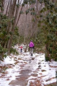 Snow on the trail, Cascades Hike by Andrea Badgley at Butterfly Mind