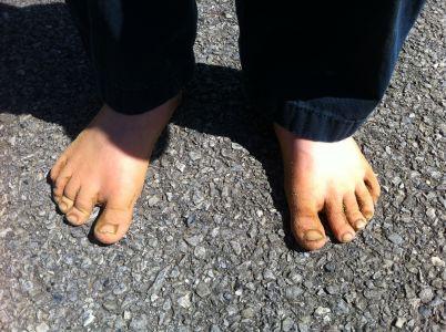 3:00 Son's sandy volleyball feet