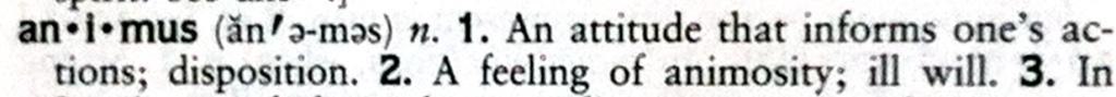 animus definition