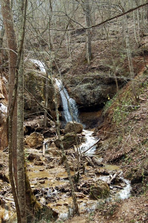 Waterfall at Falls Ridge Nature Conservancy Preserve Blacksburg, Virginia Appalachia on andreabadgley.com