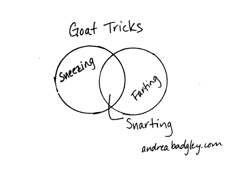 Goats farting snarting Venn diagram