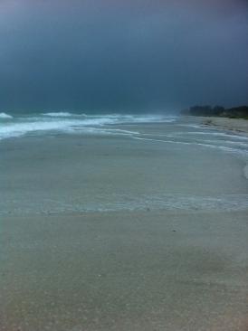 Sea Spray and dark sky from Tropical Storm Andrea at Anna Maria Island on andreabadgley.com