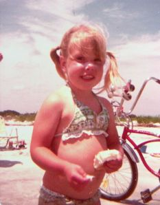 The author, Andrea Badgley, at age 3 or 4, on St. Simons Island, GA on andreabadgley.com