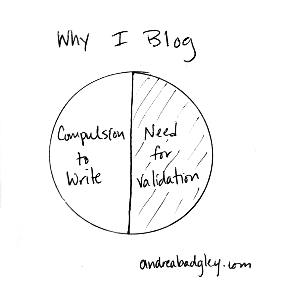 I blog for the comments pie chart on andreabadgley.com