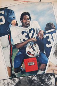 OJ Simpson, 1977, Buffalo Bills uniform, photo by Annie Leibovitz on andreabadgley.com