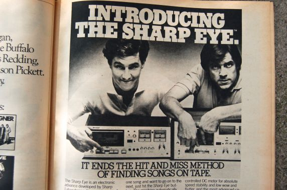 Sharp Eye tape player ad, Rolling Stone magazine, 1977 on andreabadgley.com