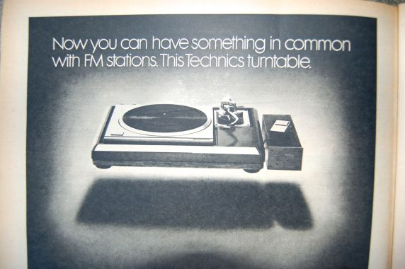 When radio played vinyl - Technics turntable ad, Rolling Stone magazine, 1977 on andreabadgley.com