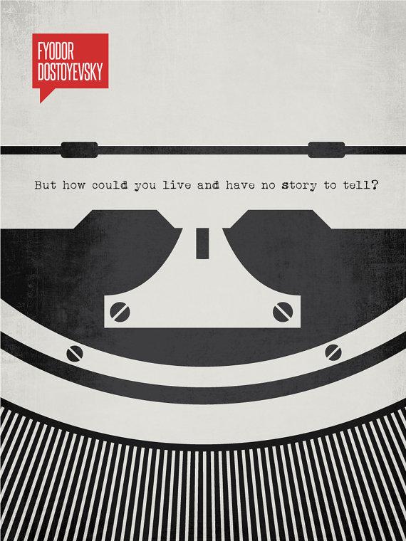 Minimalist Quotation Print - Fyodor Dostoyevsky by DesignDifferent on Etsy