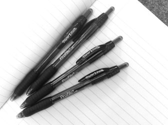 New Pens, black and white photograph on andreabadgley.com