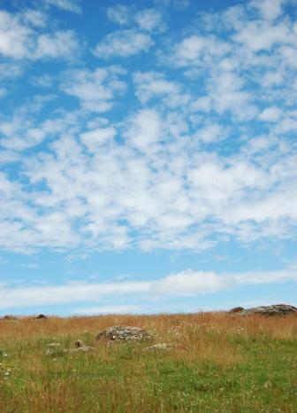 Blue sky over prairie on andreabadgley.com