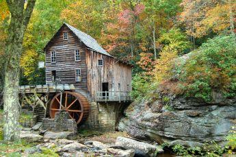 Glade Creek Grist Mill, Babcock State Park, WV October 2013 on andreabadgley.com