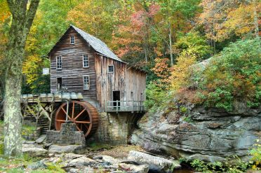 Glade Creek Grist Mill, Babcock State Park, WV October 2013 on andreabadgley.com