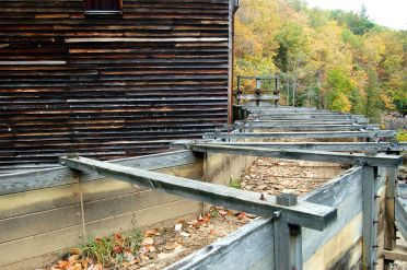 Glade Creek Grist Mill, Babcock State Park, WV autumn 2013 on andreabadgley.com