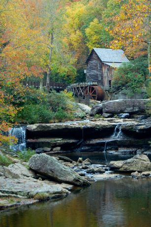 Glade Creek Grist Mill, Babcock State Park, West Virginia October 2013 on andreabadgley.com