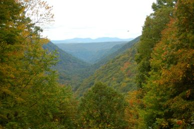 Appalachian Valley in early autumn, Babcock State Park, WV October 2013 on andreabadgley.com