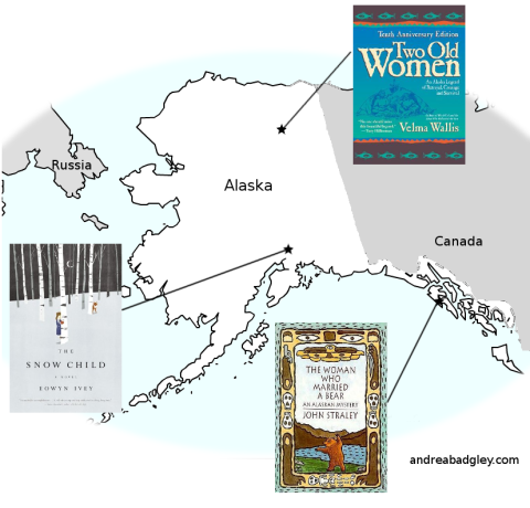 Andrea Reads America: books set in Alaska with map on andreabadgley.com