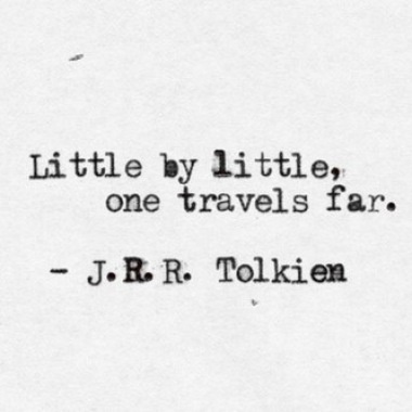 little by little Tolkien