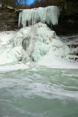 Frozen Waterfall: The Cascades, January 26, 2014 near Blacksburg, Virginia on andreabadgley.com