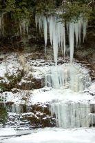 Icicles on winter hike to Cascades near Blacksburg, Virginia. January 2014 on andreabadgley.com