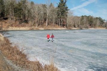 Walking on ice, Pandapas Pond, Blacksburg, VA February 2014 by Andrea Badgley on Butterfly Mind