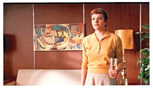 Peggy in Don's office with Butternut painting by Michal Shapiro