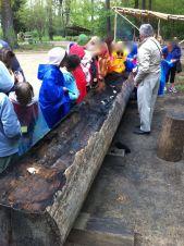 Powhatan canoe Jamestown settlement, Virginia by Andrea Badgley on andreabadgley.com
