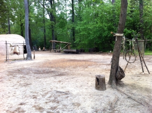 Powhaten village, Jamestown settlement, Virginia by Andrea Badgley on andreabadgley.com