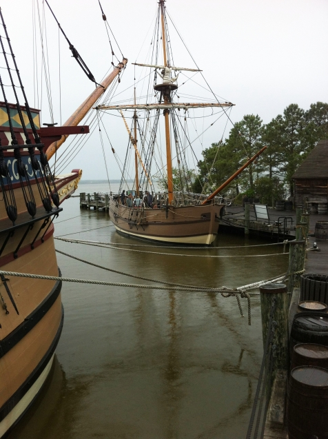 Replicas of the ships that brought colonists to Jamestown, Virginia on andreabadgley.com