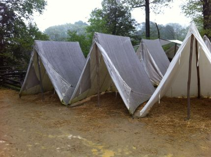 Soldier tents - Yorktown encampment, Virginia by Andrea Badgley on andreabadgley.com