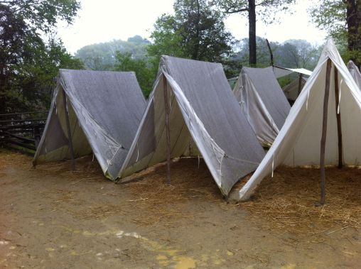 Soldier tents - Yorktown encampment, Virginia by Andrea Badgley on andreabadgley.com