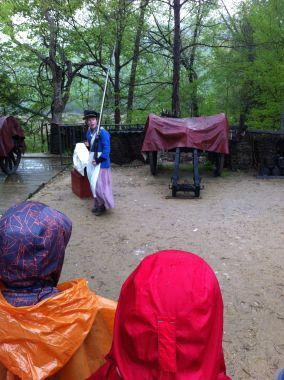Flintlock musket demonstration, Yorktown encampment, Virginia by Andrea Badgley on andreabadgley.com