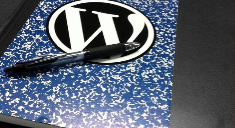 Blue composition book Andrea Badgley WordCamp Asheville