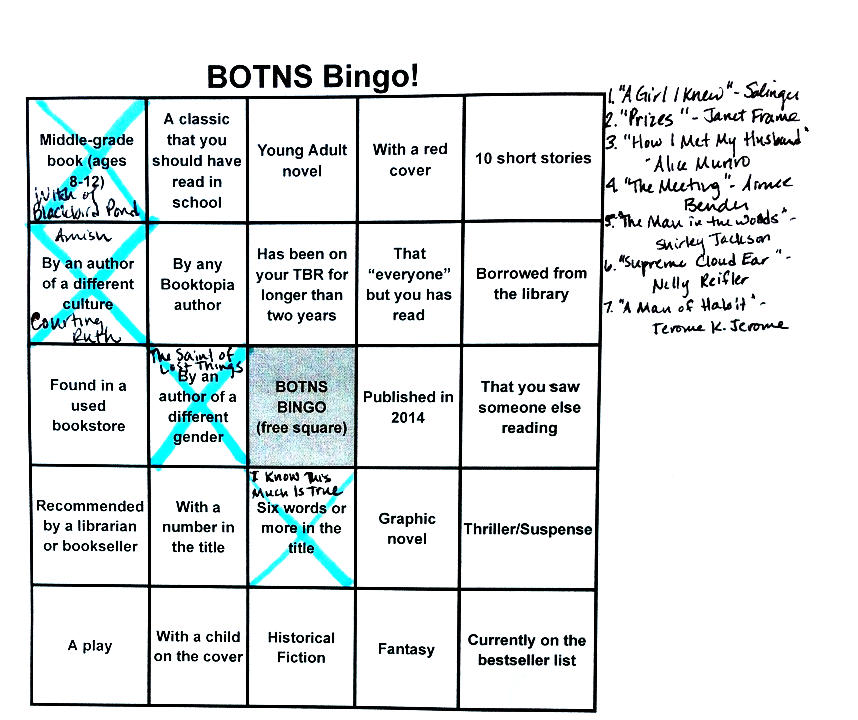 book report bingo sheet