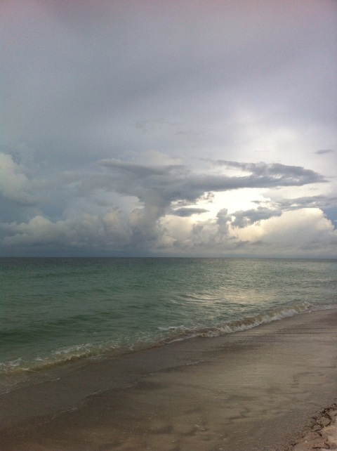 Evening light through storm clouds. Anna Maria Island, FL, by Andrea Badgley on Butterfly Mind