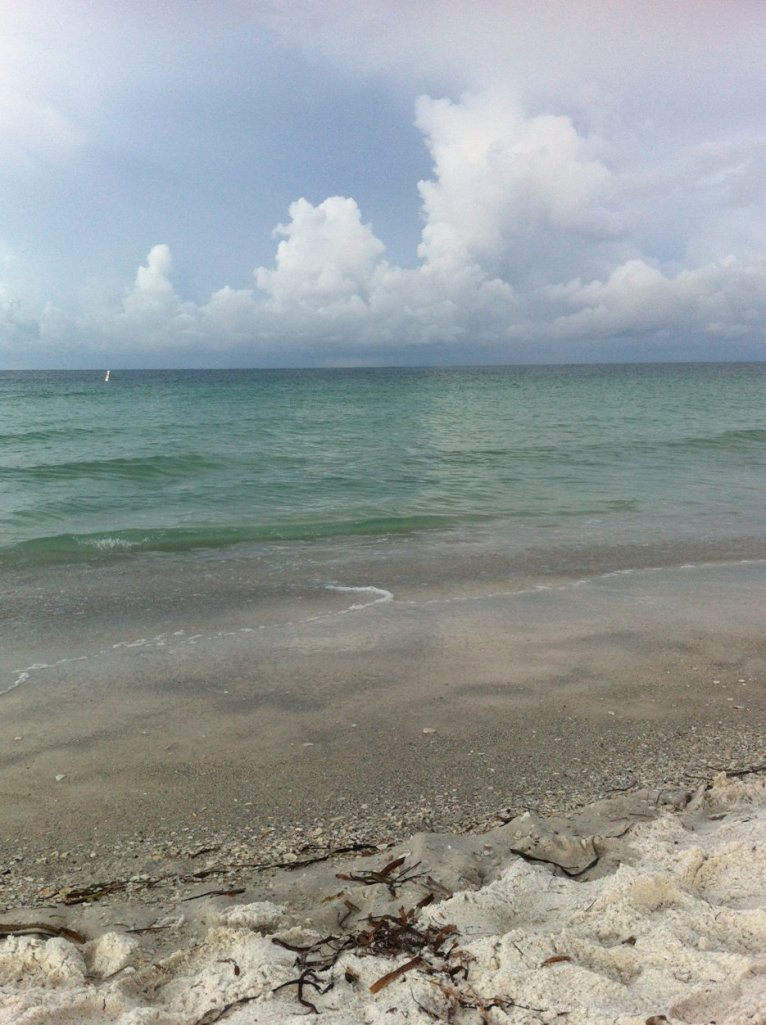 Morning clouds and beach Anna Maria Island, FL by Andrea Badgley on Butterfly Mind