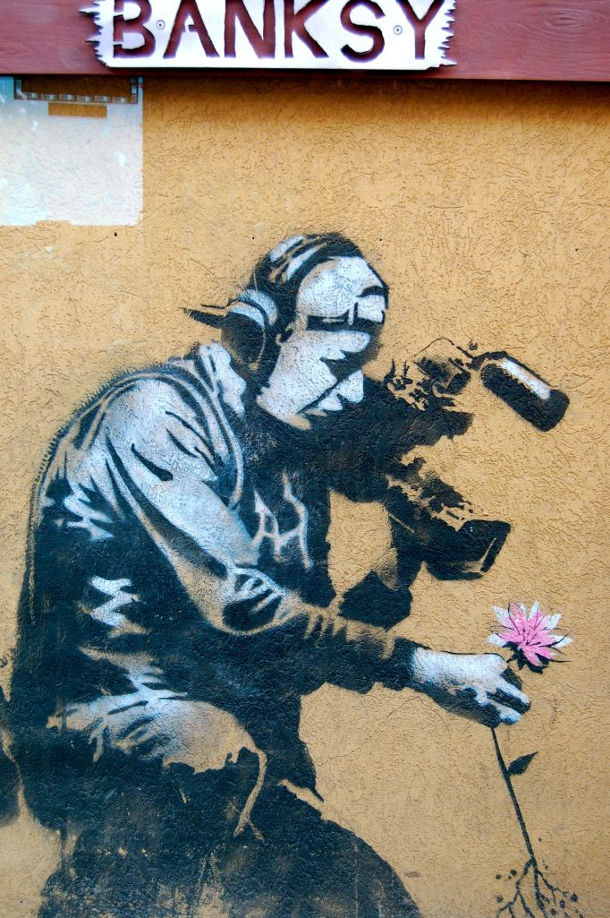 Banksy mural, Park City, UT by Andrea Badgley on Butterfly Mind