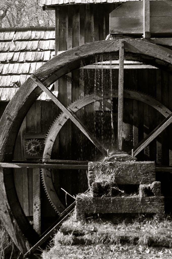 Mabry Mill black and white photograph by Andrea Badgley on Butterfly Mind