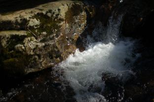 Waterfall froth in sunlight, Cascades by Andrea Badgley on Butterfly Mind