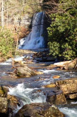 Cascades waterfall, December, Virginia by Andrea Badgley on Butterfly Mind