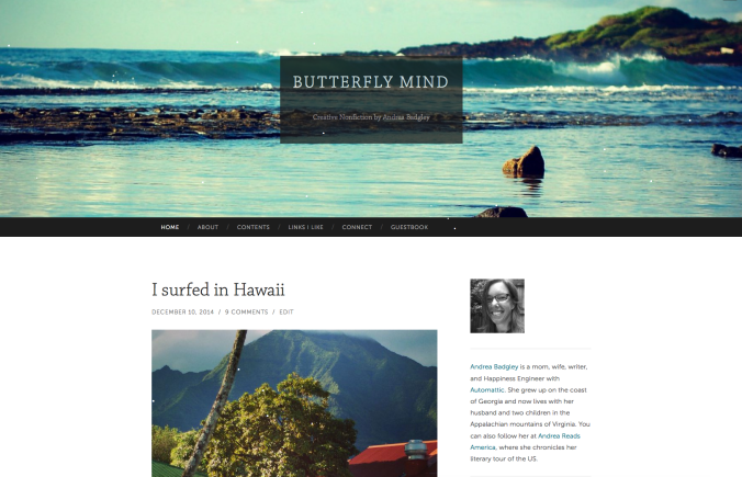 Butterfly Mind site using Hemingway Rewritten theme