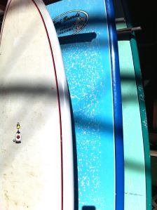 Surfboards in Hanalei, Hawaii. Photograph by Andrea Badgley on Butterfly Mind
