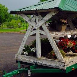 Flower cart on morning run