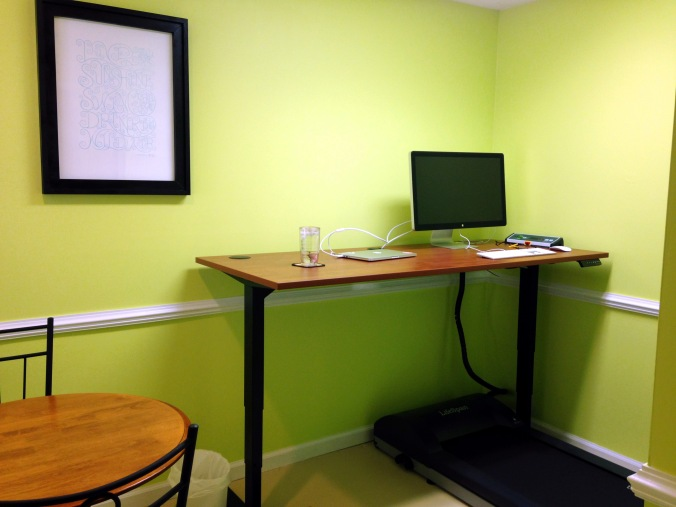 Home office with treadmill desk by Andrea Badgley on Butterfly Mind
