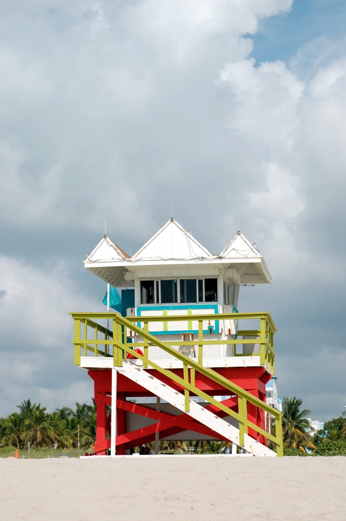 White lifeguard stand, South Beach, Miami by Andrea Badgley on Butterfly Mind